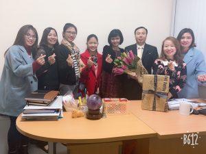 Video tập thể nhân viên Nhật An tặng sếp nhân ngày sinh nhật của anh.